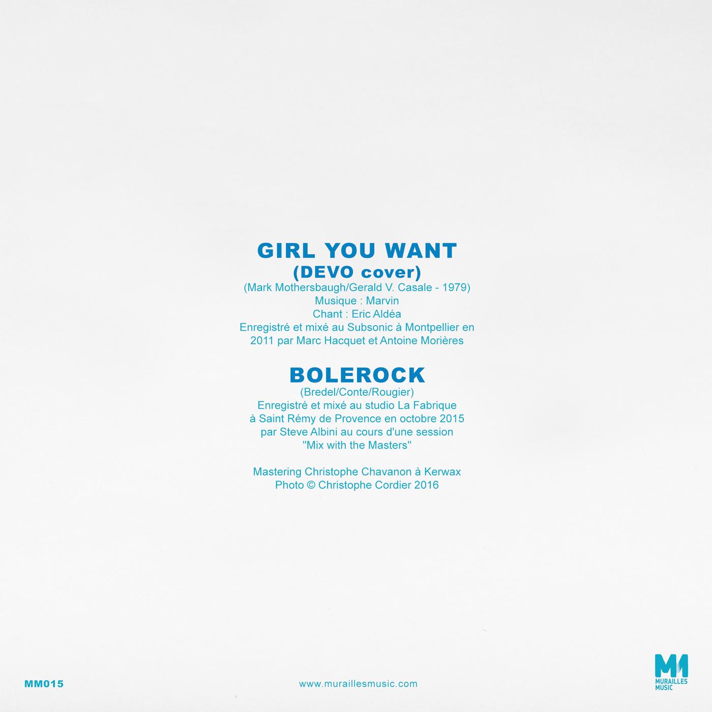 'Girl You Want / Bolerock' EP